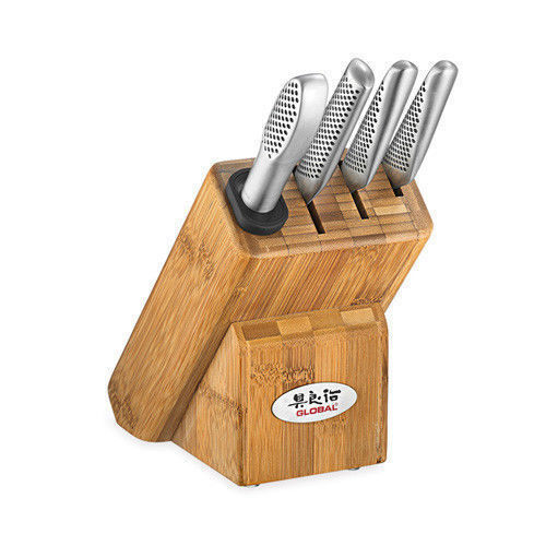 Global Masuta Knives Japanese 5 Piece Knife Block Set Japan