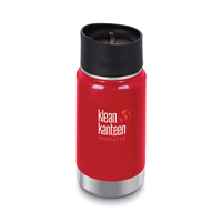 KLEAN KANTEEN INSULATED WIDE 12oz 355ml MINERAL RED Water Soup Coffee Tea