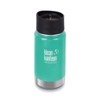 NEW KLEAN KANTEEN INSULATED WIDE 12oz 355ml SEA CREST AQUA Tea Coffee Water Soup