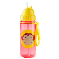 ZOO BPA FREE STRAW DRINK BOTTLE  - MONKEY SKIPHOP *AUS STOCK GENUINE & AUTHENTIC