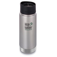 KLEAN KANTEEN 473ml 16oz Insulated Wide BRUSHED STAINLESS BPA Free Bottle Coffee Tea Soup