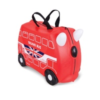 NEW TRUNKI RIDE ON SUITCASE TOY BOX CHILDREN KIDS LUGGAGE - BORIS BUS RED SAVE !