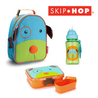 DOG SKIP HOP ZOO INSULATED LUNCHIE + LUNCH BOX + STRAW DRINK BOTTLE SET