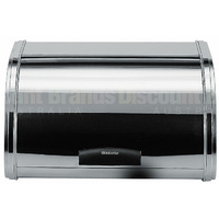 BRABANTIA ROLL TOP BREAD BIN MEDIUM - BRILLANT STEEL 07665