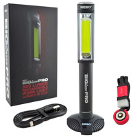 NEBO BIG LARRY PRO LED RECHARGEABLE WORK LIGHT 500 LUMEN W/ CLIP FLASHLIGHT