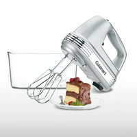 CUISINART 9 SPEED HAND MIXER WITH STORAGE CASE SILVER