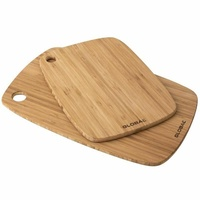 GLOBAL 2PC TRI-PLY BAMBOO UTILITY KITCHEN BOARD SET 2 PIECE CHOPPING CUTTING