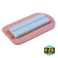 EZE-LAP 26F DIAMOND PLATE GROOVED SHARPENER 25x75mm FINE 600g + LEATHER POUCH EZE LAP