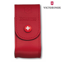 NEW SWISS ARMY KNIFE RED LEATHER POUCH VICTORINOX 5-8 LAYERS