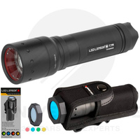 NEW LED LENSER T7M TORCH 400 LUMENS FLASHLIGHT + INTELLIGENT FILTER