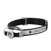NEW LED LENSER MH3 HEAD TORCH 200 LUMENS HEADLAMP BLACK AUTH AUS SELLER