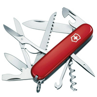 NEW VICTORINOX HUNTSMAN SWISS ARMY POCKET KNIFE - RED