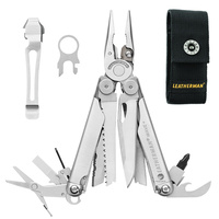 LEATHERMAN WAVE STAINLESS MULTITOOL + NYLON SHEATH + POCKET CLIP & LANYARD RING