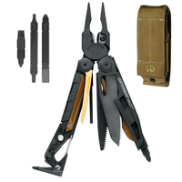 LEATHERMAN MUT BLACK MILITARY STAINLESS MULTITOOL KNIFE + SHEATH + BIT KIT
