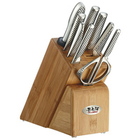 New GLOBAL 10pc TAKASHI Knife Block Set 10 Piece Kitchen Knives Made in Japan
