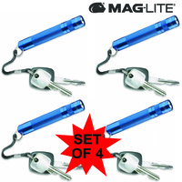 MAGLITE 4 X SOLITAIRE FLASHLIGHT BLUE MADE IN USA