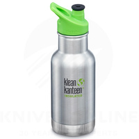 KLEAN KANTEEN KIDS SPORTS CAP 355ML 12OZ STAINLESS INSULATED CLASSIC BOTTLE