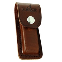 NEW SCHRADE LARGE BROWN LEATHER SHEATH YULS2