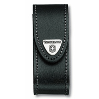 VICTORINOX SWISS ARMY 2-4 LAYER LEATHER POUCH BLACK SUITS SPARTAN CAMPER