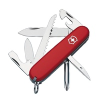 NEW VICTORINOX HIKER WORKER SWISS ARMY POCKET KNIFE - RED FREE POST