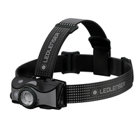 NEW LED LENSER MH7 HEAD TORCH 600 LUMENS HEADLAMP BLACK & GRAY